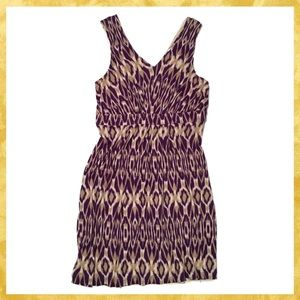 Ann Taylor LOFT Purple & Tan Dress